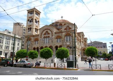 PIRAEUS, GREECE - 26 April 2015. Greek Orthodox Church in Piraeus.