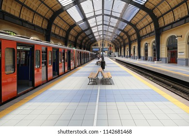 Piraeus, Greece - May 04, 2015: Empty Metro Station in Piraeus, Greece.