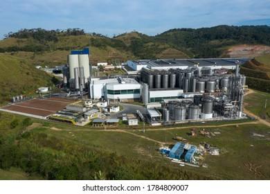 Pirai city, Sao Paulo state, Brazil, South America. July 2020. Brewery in the world. Ambev.