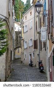 PIRAN, SLOVENIA - SEPTEMBER 18: Buidlings of old town on 18th September 2016 in Piran, Slovenia.