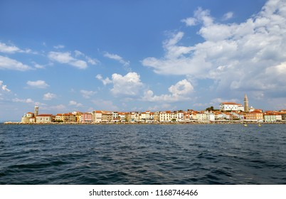 Piran, Slovenia, view from the sea