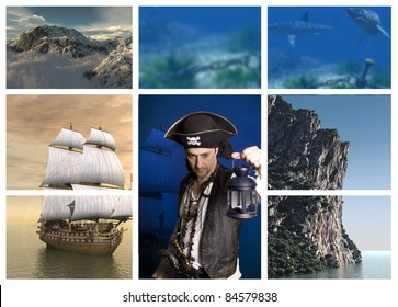 pirate collage