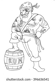 Pirate Coloring Picture