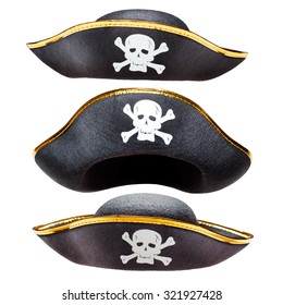 Pirate fancy dress hat with Jolly Roger