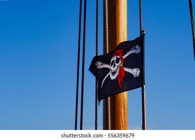 Pirate flag | Sailing ship | Baltic Sea | Zingst | Germany