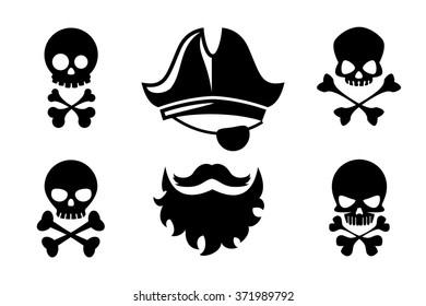 Pirate head icons