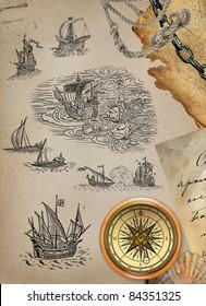 Pirate map set