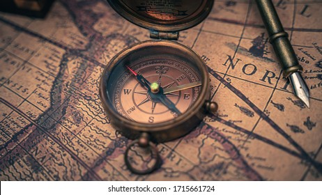 Pirate Nautical Compass Treasure Vintage Collection