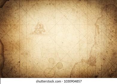 Pirate and nautical theme grunge background.
