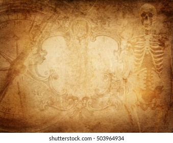 Pirate and nautical theme grunge background.