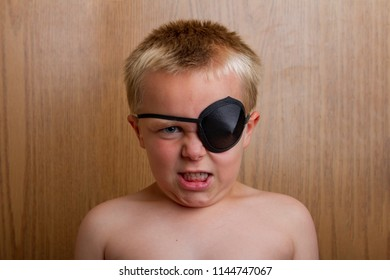 pirate pretending to be mad as he really is just a kid having fun