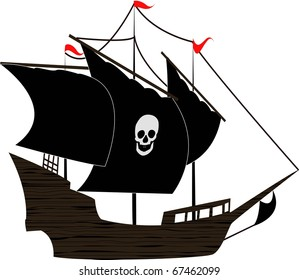 the Pirate sailboat (vector version in portfolio)