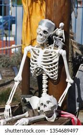 Pirate skeleton bones