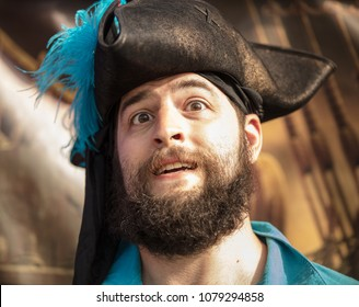 pirate is surprised
