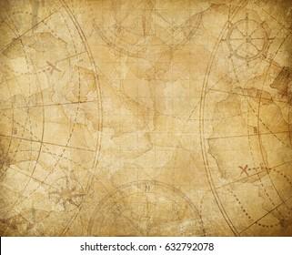 pirates treasure map background illustration