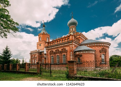 Pirevichi Village, Zhlobin District Of Gomel Region Of Belarus. All Saints Church Is Old Cultural And Architectural Monument.