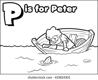 Pis for Peter Coloring Activity