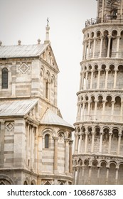 Pisa Cathedral, Roman Catholic cathedral dedicated to the Assumption of the Virgin Mary and the Leaning Tower of Pisa, bell tower of cathedral in Pisa, Italy.