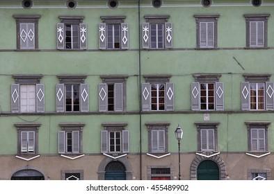 PISA, ITALY, JUNE 08, 2016 : Building facade in Pisa, Tuscany,  june 08, 2016 in Pisa, Italy