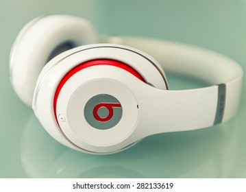 PISA, ITALY - MAY 26, 2015: Beats studio headset. Beats by Dr. Dre has been acquired by Apple.