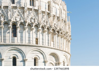 Pisa, Italy-October 21, 2018:particular of one of the symbolic places of Pisa during a sunny day