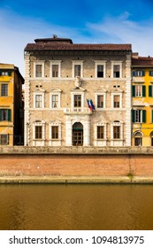 "Pisa University rectorate. The inscription ""alla giornata"" means ""day-to-day"""