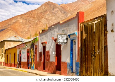 PISCO ELQUI, CHILE - JUNE 20: View of town called Pisco Elqui, Chile in the Elqui Valley on June 20, 2014