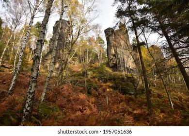 Piskovce Rajecke udoli, Sandstone Rajec Valley - Shutterstock ID 1957051636
