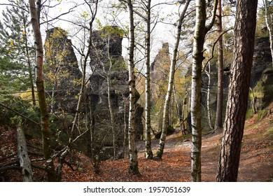 Piskovce Rajecke udoli, Sandstone Rajec Valley - Shutterstock ID 1957051639
