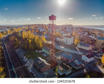 Pispala shot tower on a beautiful sunny day in Tampere, Finland