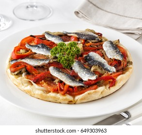Pissaladiere, typical food from the Nice region, France.