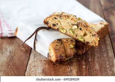 Pistachio and chocolate Biscotti
