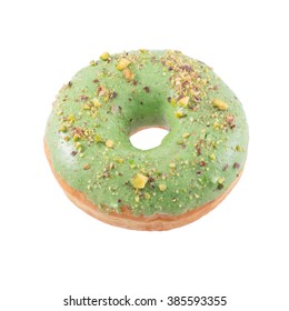 Pistachio green donut