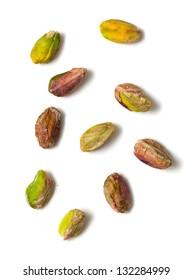 pistachio isolated on white background