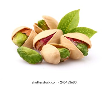 Pistachio with leaf