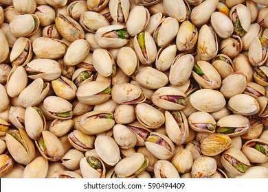 Pistachio texture. Nuts. Green fresh pistachios as texture.