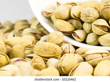 pistachios background, close-up