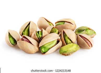 Pistachios isolated on a white background. With clipping path.