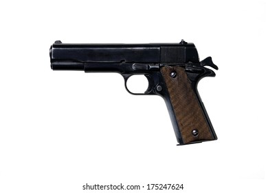 The pistol of american`s officers in second world war