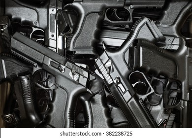 pistol as background