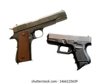 Pistol bullet size .45 inch , 9mm