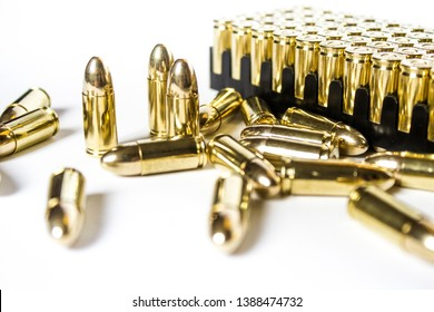 Pistol Glock 17 19 ammunition magazines rounds 9x19 9mm bullets. Shooting sports, civil defense