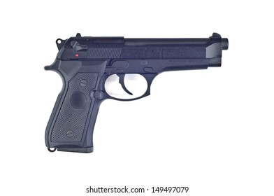 Pistol isolated.