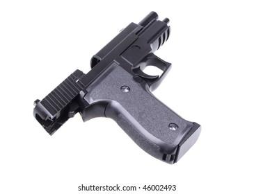Pistol. Isolated on white background.
