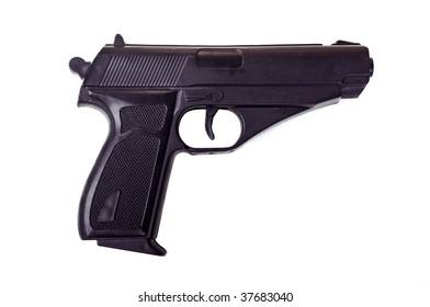 Pistol on isolated white background