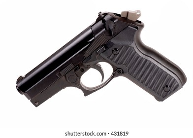 Pistol on white