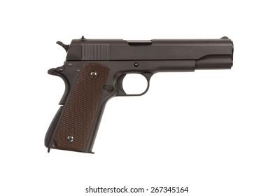 Pistol on white background