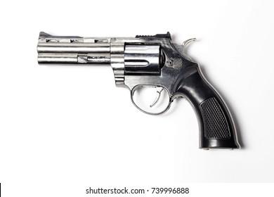 Pistol, Revolver isolated on white background