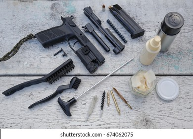 Pistol stripping and cleaning tools