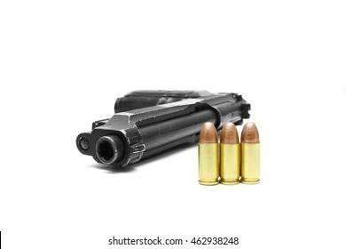 Pistol weapon handgun isolated on white background